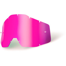 100% Replacement Lenses pink / mirror